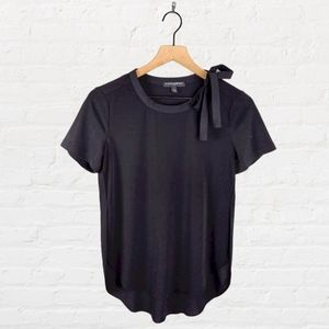 Banana Republic Black Bow Neckline Blouse
